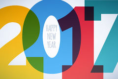 Happy New Year 2017 colorful background. Stock Photos