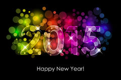 Happy New Year - 2015 colorful background Royalty Free Stock Photos