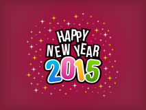 2015 Happy New Year colorful background. Vector illustration Stock Photos