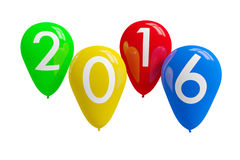 Happy New Year 2016. Colorful balloons. Happy New Year 2016 stock illustration