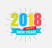 2018 Happy New Year. Stock Images