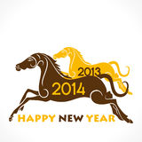 Happy new year 2014. Colorful box horse concept background Royalty Free Stock Photos
