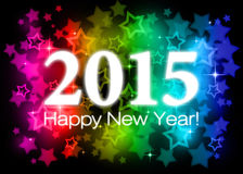 2015 Happy New Year. Colorful card Stock Photos