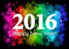 2016 Happy New Year Stock Photo