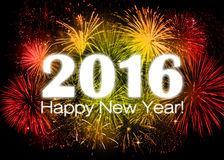 2016 Happy New Year. Colorful card Royalty Free Stock Images