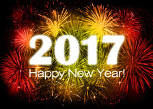 2017 Happy New Year. Greeting card Stock Photos