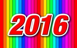 Happy New Year 2016. Colorful celebration background stock illustration