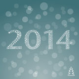 Happy new year 2014 colorful celebration. Royalty Free Stock Photography