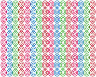 Happy new year 2017 colorful circles pattern. Abstract happy new year 2017 colorful circles pattern Royalty Free Stock Images