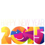 Happy New Year 2015 Colorful Design. Illustration Stock Image