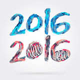 Happy new year 2016. Happy new year, colorful design, vector illustration Royalty Free Stock Image