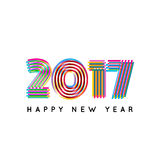 Happy new 2017 year. Colorful design.. Vector illustration and photo image available Stock Photos