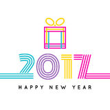 Happy new 2017 year. Colorful design. Vector illustration and photo image available Stock Photos