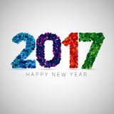 Happy new year 2017. Colorful dots design. Vector simple style i. Llustration Stock Images