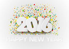 Happy New Year 2016. With Colorful Dotted Background over White - Vector Stock Images