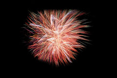 Happy New Year 2016 colorful fireworks on the night sky Stock Photos