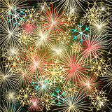 Happy New Year colorful fireworks vector. Seamless texture vector illustration vector illustration