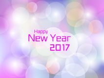 2017 Happy New Year colorful flare light background. For use in 2017 cover, print, web, wrapping and new year 2017 card Royalty Free Stock Images