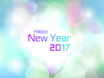 2017 Happy New Year colorful flare light background. For use in 2017 cover, print, web, wrapping and new year 2017 card Stock Images