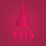Happy new year 2016 colorful flat design vector illustration concept. S Stock Image
