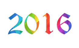 Happy new year 2016 colorful flat design vector illustration concept. Isolate Stock Images