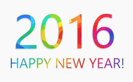 Happy new year 2016 colorful flat design vector illustration concept. Isolate Royalty Free Stock Image