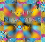 Happy New Year. 2016 with a colorful glitter Royalty Free Stock Photos