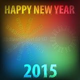 Happy new year 2015. Colorful greeting card Royalty Free Stock Photos