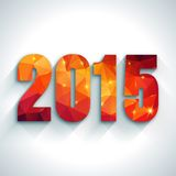 Happy New Year 2015 colorful greeting card in Stock Photos