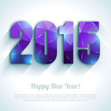 Happy New Year 2015 colorful greeting card in Stock Image
