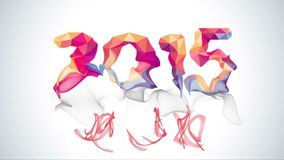 Happy New Year 2015 colorful greeting video made stock video
