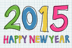 Happy New Year 2015. Colorful handwritten Happy New Year 2015  illustration Stock Photography