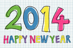 Happy New Year 2014. Colorful handwritten Happy New Year 2014 vector vector illustration