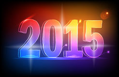 Happy new year 2015. Colorful Lights Stock Photography
