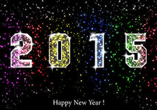 Happy New Year 2015. Happy New Year - 2015 colorful premise Vector Illustration