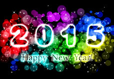 Happy New Year 2015. Happy New Year - 2015 colorful premise with text greetings royalty free illustration