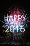 Happy New Year 2016 Stock Photography