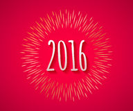 Happy New Year 2016 colorful symbol Stock Image