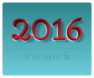 Happy New Year 2016 colorful symbol Royalty Free Stock Photos
