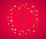 Happy New Year 2016 colorful symbol Stock Images