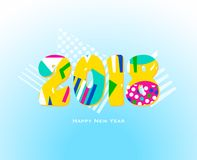 2018 Happy new year geometric design Royalty Free Stock Images
