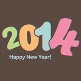 Happy new year. Colorful vector file with the numbers 2014 Stock Photos
