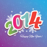 Happy new year. Colorful vector file with the numbers 2014 Stock Photography