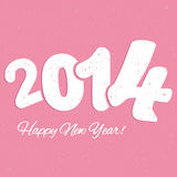 Happy new year. Colorful vector file with the numbers 2014 Royalty Free Stock Images