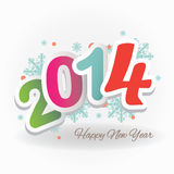 Happy new year. Colorful vector file with the numbers 2014 Royalty Free Stock Photography