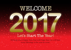 Happy New Year 2017 colorful wallpaper Stock Images