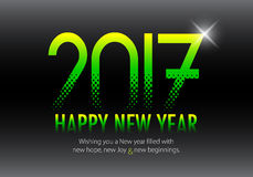 Happy New Year 2017 colorful wallpaper Royalty Free Stock Image