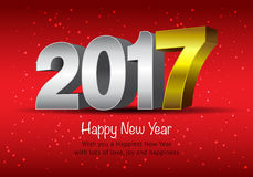 Happy New Year 2017 colorful wallpaper Royalty Free Stock Photo