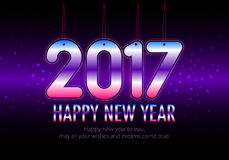 Happy New Year 2017 colorful wallpaper Stock Photography