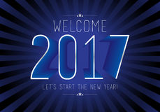 Happy New Year 2017 colorful wallpaper Stock Image